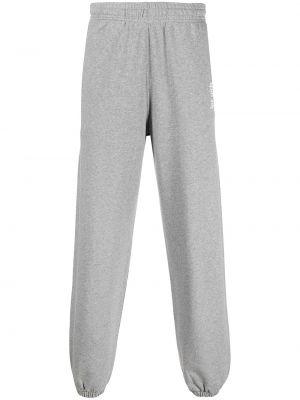 Хлопковые серые спортивные брюки эластичные Les Girls, Les Boys