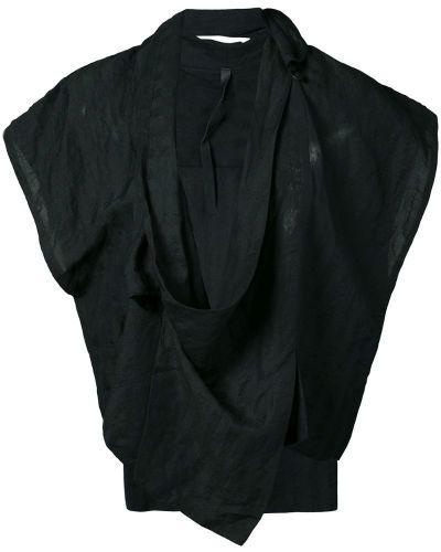 Пиджак черный с запахом Barbara I Gongini
