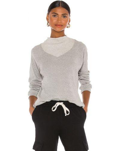 Prążkowana bluza bawełniana z raglanowymi rękawami Monrow