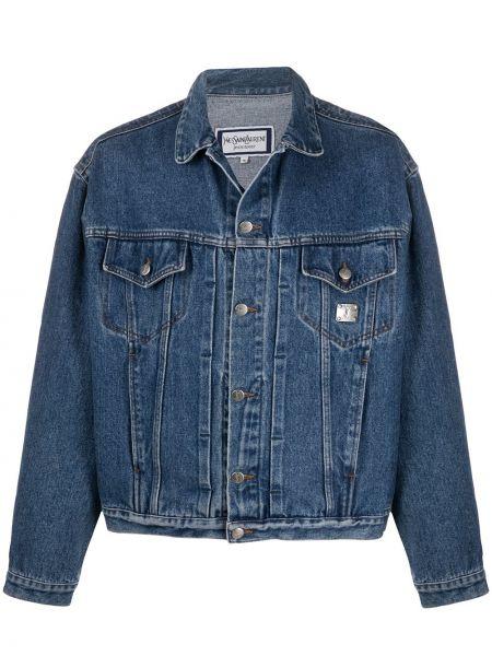 Пиджак с карманами джинсовый Yves Saint Laurent Pre-owned