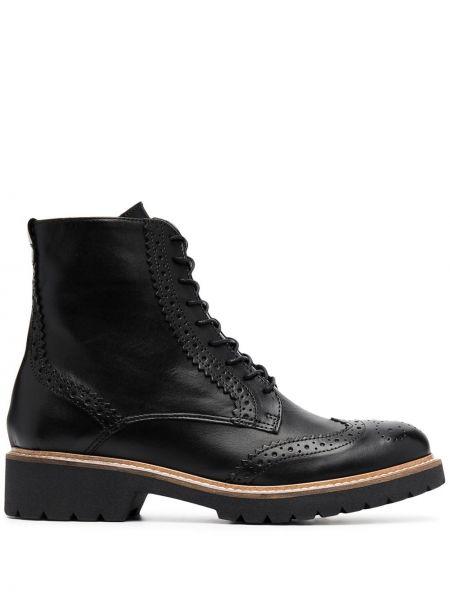 Кожаные черные сапоги на шнуровке Carvela
