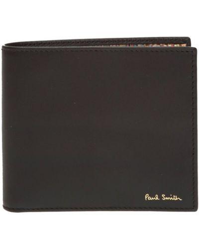 Czarny portfel skórzany Paul Smith
