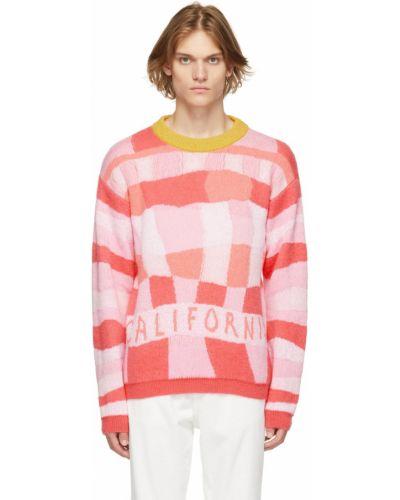 Różowy sweter wełniany moherowy z długimi rękawami Erl