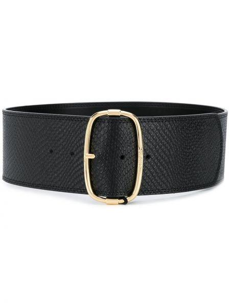 Кожаный черный ремень с пряжкой с поясом Twin-set