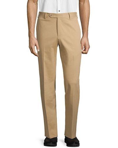 Брючные бежевые брюки с карманами Zanella