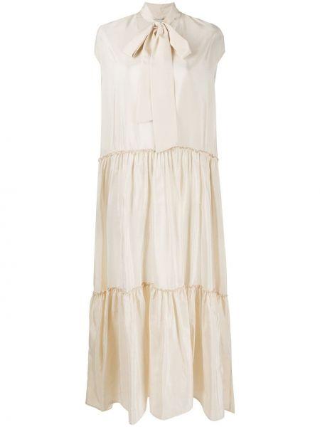 Платье с отложным воротником шелковое Ballantyne