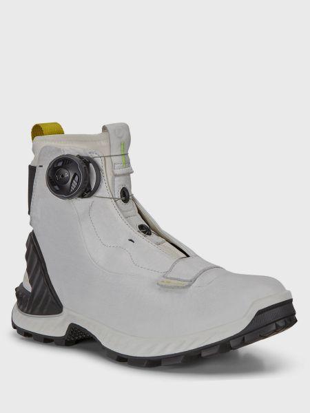 Прямые белые кожаные ботинки Ecco
