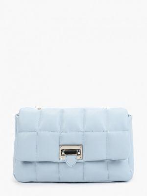 Голубая кожаная сумка через плечо Lolli L Polli
