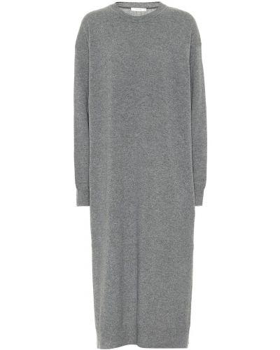 Кашемировое серое платье миди The Row