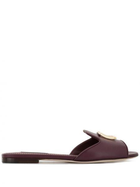 Шлепанцы на каблуке фиолетовый Dolce & Gabbana