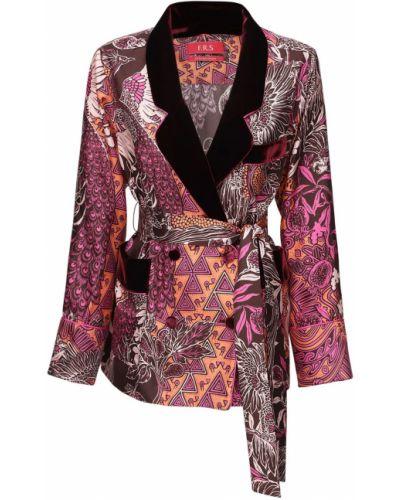 Шелковая куртка с поясом двубортная F.r.s. For Restless Sleepers