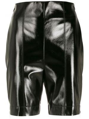 Черные шорты на молнии узкого кроя Gloria Coelho