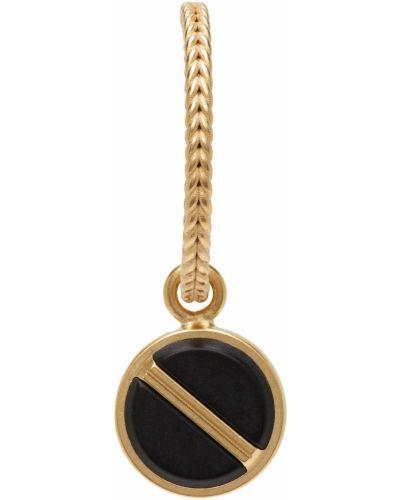 Złote kolczyki - czarne Maison Margiela
