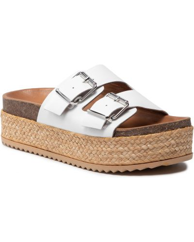Sandały espadryle - białe Inuovo