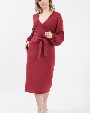 Платье с поясом с запахом вязаное Lacywear