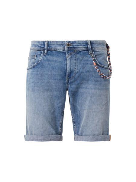 Bawełna bawełna niebieski dżinsowe szorty z zamkiem błyskawicznym Tom Tailor Denim