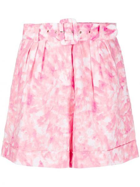 Шорты с завышенной талией розовый Faithfull The Brand
