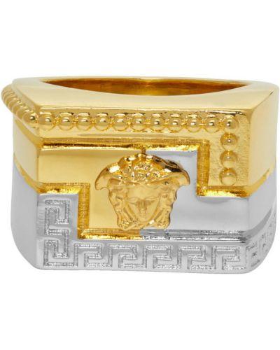 Pierścień srebro ze złota Versace