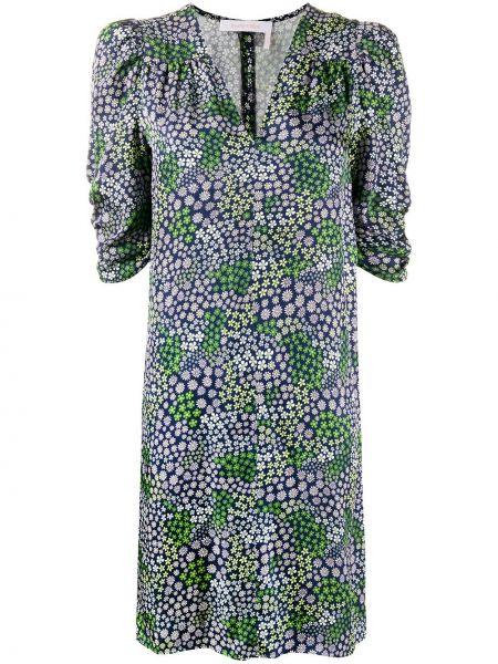Платье с цветочным принтом с V-образным вырезом See By Chloe
