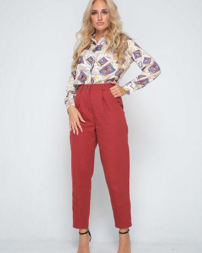 Зауженные брюки с защипами с карманами Leleya