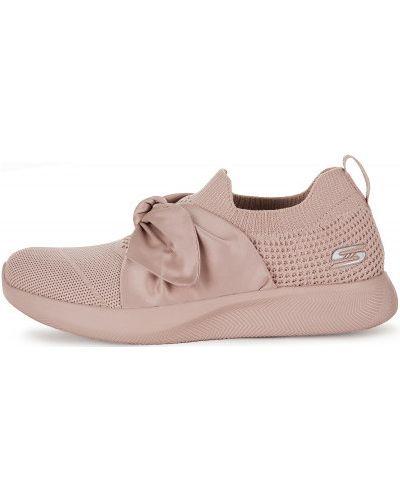 Кроссовки розовый с бантом Skechers