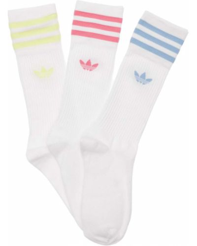 Белые хлопковые носки Adidas Originals