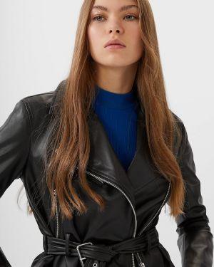 Кожаная куртка байкерская из искусственной кожи Stradivarius