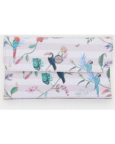 Кожаный кошелек на молнии розовый Parfois