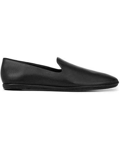 Czarne loafers skorzane Vince