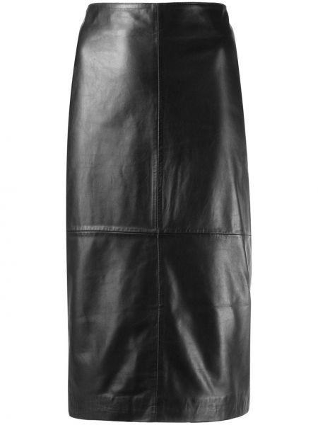Кожаная юбка с завышенной талией пачка P.a.r.o.s.h.