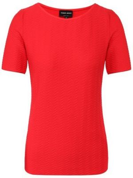 Облегающий мягкий красный клубный топ Giorgio Armani
