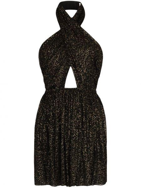 Платье мини с открытой спиной с запахом Saint Laurent