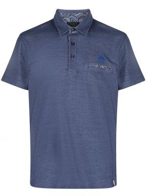 Рубашка с коротким рукавом - синяя Billionaire