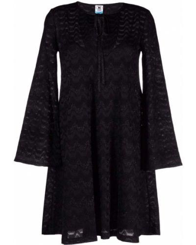 Платье макси с длинными рукавами - черное M Missoni