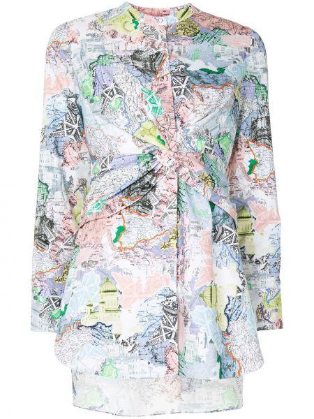 Асимметричная юбка макси с вырезом на пуговицах круглая Portspure