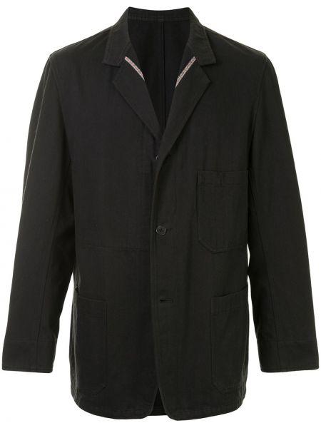 С рукавами черный прямой пиджак на пуговицах Yohji Yamamoto Pre-owned