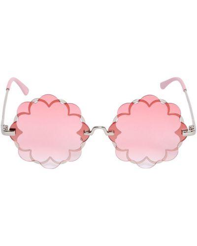 Różowy okulary przeciwsłoneczne metal Monnalisa