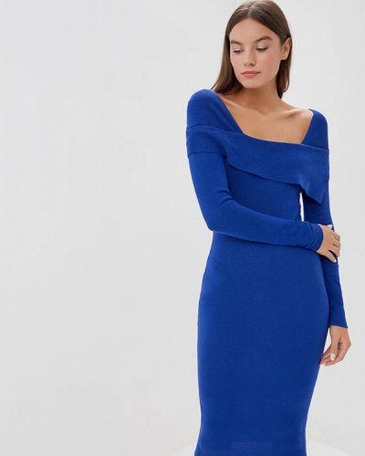 Платье с открытыми плечами осеннее Lost Ink.