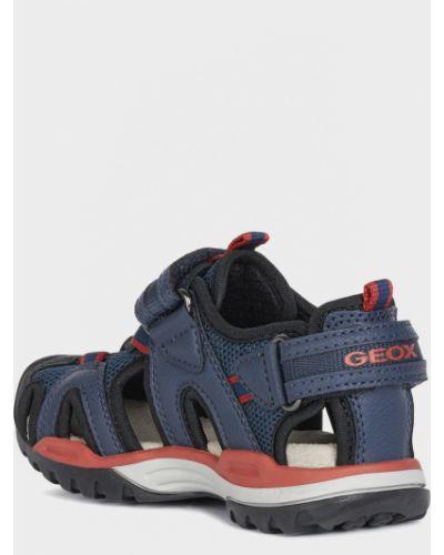 Кожаные сандалии - синие Geox