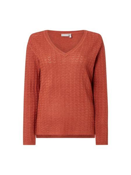 Prążkowany sweter z wiskozy z dekoltem w serek Fransa