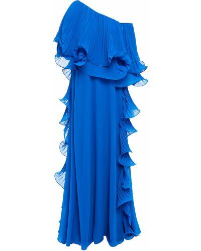 Niebieska sukienka wieczorowa na obcasie Badgley Mischka