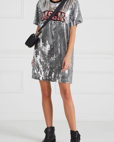 Платье мини с пайетками футболка Msgm