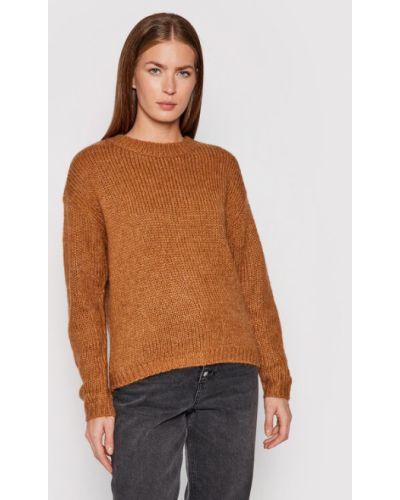 Sweter - brązowy Vero Moda
