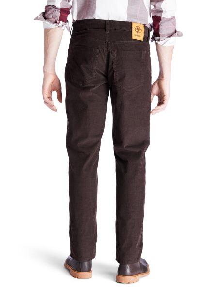 Прямые коричневые брюки вельветовые Timberland