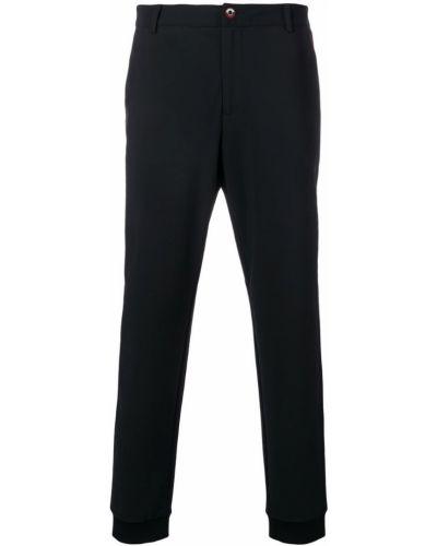 Черные зауженные брюки с поясом с манжетами бязевые Roberto Cavalli