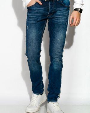 Хлопковые джинсы - синие Time Of Style