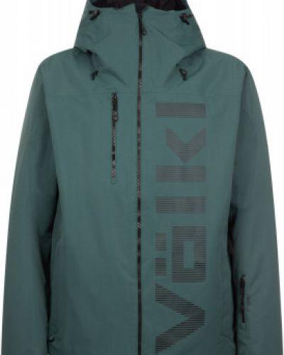 Прямая теплая зеленая утепленная куртка VÖlkl