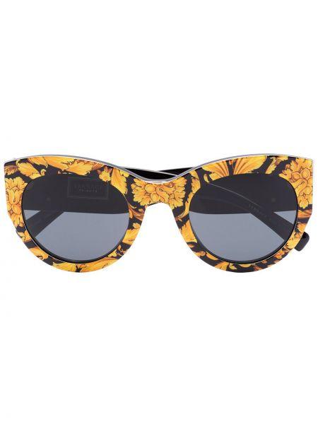 Акриловые солнцезащитные очки хаки Versace Eyewear