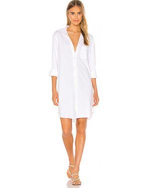 Хлопковое белое платье узкого кроя Frank & Eileen