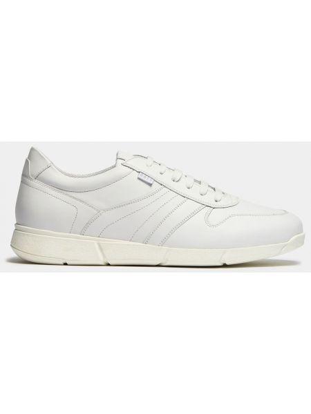 Белые текстильные кроссовки на шнуровке Ralf Ringer